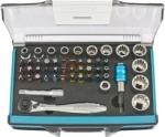Трещотка с набором бит и торцевых головок, Адаптер и удлинитель, 49 штук, S2, GROSS, 11600